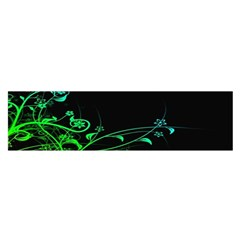 Abstract Colorful Plants Satin Scarf (oblong)