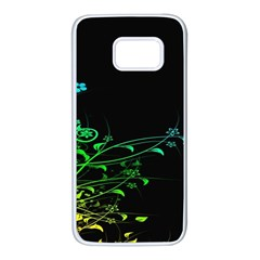 Abstract Colorful Plants Samsung Galaxy S7 White Seamless Case