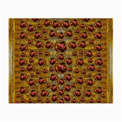 Angels In Gold And Flowers Of Paradise Rocks Small Glasses Cloth