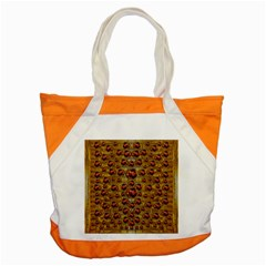 Angels In Gold And Flowers Of Paradise Rocks Accent Tote Bag