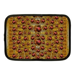 Angels In Gold And Flowers Of Paradise Rocks Netbook Case (Medium)