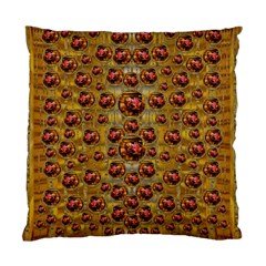 Angels In Gold And Flowers Of Paradise Rocks Standard Cushion Case (two Sides)