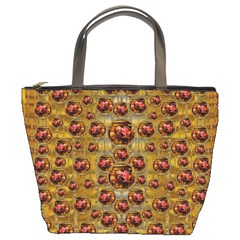 Angels In Gold And Flowers Of Paradise Rocks Bucket Bags
