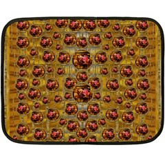Angels In Gold And Flowers Of Paradise Rocks Fleece Blanket (Mini)