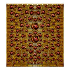 Angels In Gold And Flowers Of Paradise Rocks Shower Curtain 66  X 72  (large)