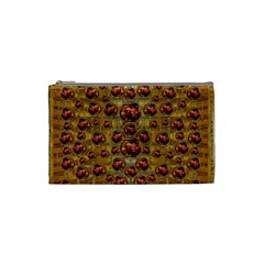 Angels In Gold And Flowers Of Paradise Rocks Cosmetic Bag (small)