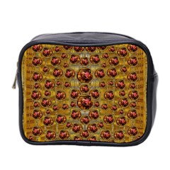 Angels In Gold And Flowers Of Paradise Rocks Mini Toiletries Bag 2 Side