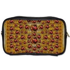 Angels In Gold And Flowers Of Paradise Rocks Toiletries Bags