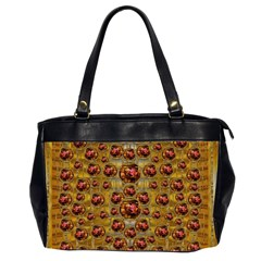Angels In Gold And Flowers Of Paradise Rocks Office Handbags (2 Sides)