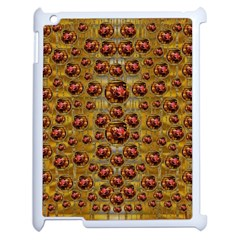 Angels In Gold And Flowers Of Paradise Rocks Apple iPad 2 Case (White)