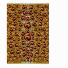 Angels In Gold And Flowers Of Paradise Rocks Large Garden Flag (two Sides)