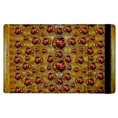 Angels In Gold And Flowers Of Paradise Rocks Apple iPad 3/4 Flip Case