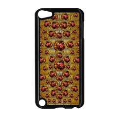 Angels In Gold And Flowers Of Paradise Rocks Apple iPod Touch 5 Case (Black)