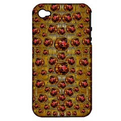 Angels In Gold And Flowers Of Paradise Rocks Apple iPhone 4/4S Hardshell Case (PC+Silicone)