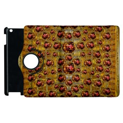 Angels In Gold And Flowers Of Paradise Rocks Apple iPad 3/4 Flip 360 Case