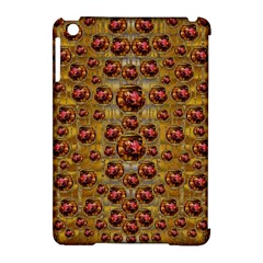 Angels In Gold And Flowers Of Paradise Rocks Apple Ipad Mini Hardshell Case (compatible With Smart Cover)