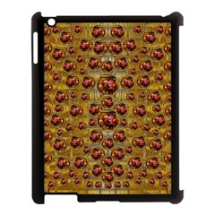 Angels In Gold And Flowers Of Paradise Rocks Apple iPad 3/4 Case (Black)