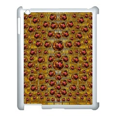 Angels In Gold And Flowers Of Paradise Rocks Apple iPad 3/4 Case (White)