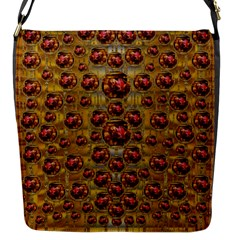 Angels In Gold And Flowers Of Paradise Rocks Flap Messenger Bag (s)