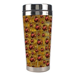 Angels In Gold And Flowers Of Paradise Rocks Stainless Steel Travel Tumblers