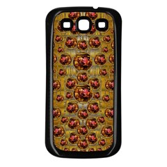 Angels In Gold And Flowers Of Paradise Rocks Samsung Galaxy S3 Back Case (Black)
