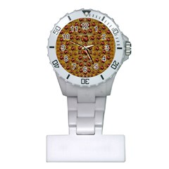 Angels In Gold And Flowers Of Paradise Rocks Plastic Nurses Watch