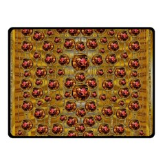 Angels In Gold And Flowers Of Paradise Rocks Double Sided Fleece Blanket (Small)
