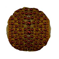 Angels In Gold And Flowers Of Paradise Rocks Standard 15  Premium Flano Round Cushions