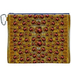 Angels In Gold And Flowers Of Paradise Rocks Canvas Cosmetic Bag (XXXL)