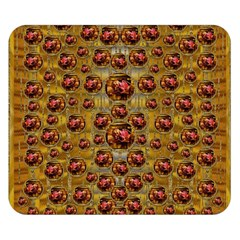 Angels In Gold And Flowers Of Paradise Rocks Double Sided Flano Blanket (Small)