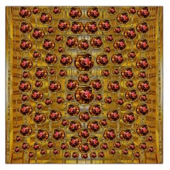 Angels In Gold And Flowers Of Paradise Rocks Large Satin Scarf (Square)