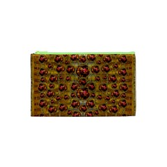 Angels In Gold And Flowers Of Paradise Rocks Cosmetic Bag (XS)