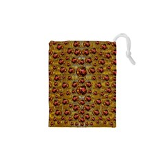 Angels In Gold And Flowers Of Paradise Rocks Drawstring Pouches (xs)