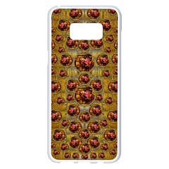 Angels In Gold And Flowers Of Paradise Rocks Samsung Galaxy S8 Plus White Seamless Case