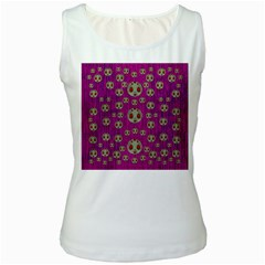Ladybug In The Forest Of Fantasy Women s White Tank Top