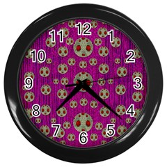 Ladybug In The Forest Of Fantasy Wall Clocks (black)