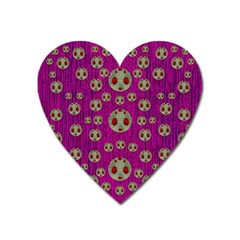 Ladybug In The Forest Of Fantasy Heart Magnet