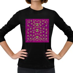 Ladybug In The Forest Of Fantasy Women s Long Sleeve Dark T-Shirts