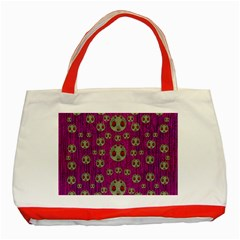 Ladybug In The Forest Of Fantasy Classic Tote Bag (Red)
