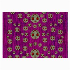 Ladybug In The Forest Of Fantasy Large Glasses Cloth