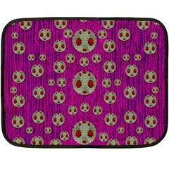 Ladybug In The Forest Of Fantasy Double Sided Fleece Blanket (Mini)