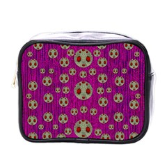 Ladybug In The Forest Of Fantasy Mini Toiletries Bags