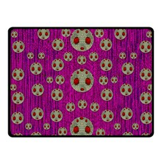 Ladybug In The Forest Of Fantasy Fleece Blanket (Small)