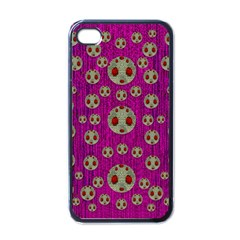 Ladybug In The Forest Of Fantasy Apple iPhone 4 Case (Black)