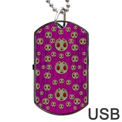 Ladybug In The Forest Of Fantasy Dog Tag USB Flash (One Side)