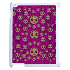 Ladybug In The Forest Of Fantasy Apple iPad 2 Case (White)