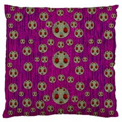 Ladybug In The Forest Of Fantasy Large Cushion Case (One Side)