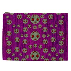 Ladybug In The Forest Of Fantasy Cosmetic Bag (XXL)