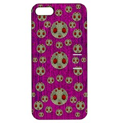 Ladybug In The Forest Of Fantasy Apple Iphone 5 Hardshell Case With Stand