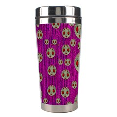 Ladybug In The Forest Of Fantasy Stainless Steel Travel Tumblers